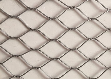 China Stainless Steel Diamond Woven Wire Mesh Panels Good Fire Prevention Properties supplier
