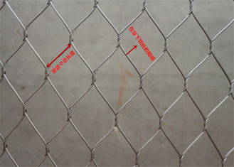 China Smooth Surface Stainless Steel Wire Rope Mesh Net High Safety For Bird Aviary supplier