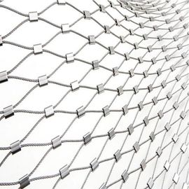 China Zoo Stainless Steel Rope Mesh , Stainless Steel Wire Rope Ferrule Mesh supplier