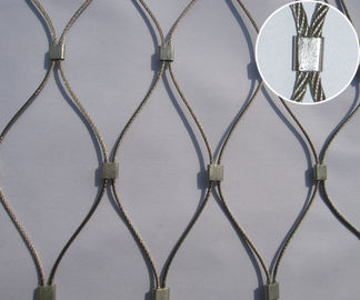China 7*19 Stainless Steel Ferrule Anti-falling mesh For Shopping Market/Mall/Store supplier