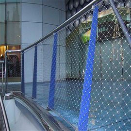 China Stainless Steel 316 Anti dropping Rope Mesh For Shopping mall/Market protection supplier