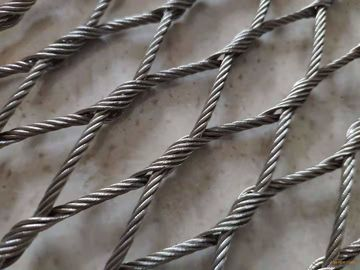 Flexible 316 Stainless Steel Rope Mesh High Strength Antirust For Bird Aviary