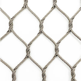 China Wear Resisting Stainless Steel Woven Mesh Nonflammable For Animal Enclosure supplier