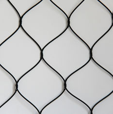 China Knotted Stainless Steel Woven Wire Mesh Screen For Animals Protection supplier