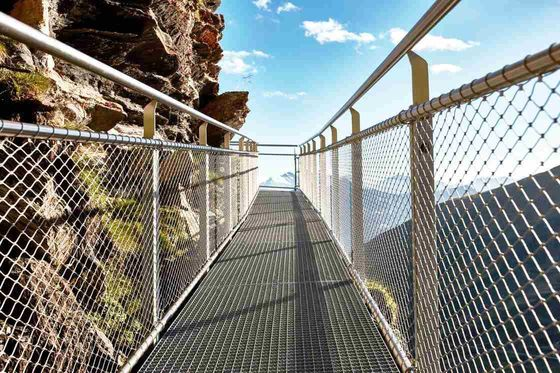 Knotted Stainless Steel Balustrade Mesh,Glass Plank Road Protective Mesh