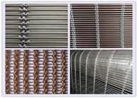 China Building Stainless Steel Architectural Mesh 50mm Cable Pitch Unique Texture factory