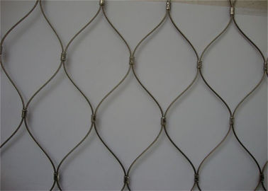 304 / 316 Stainless Steel Woven Mesh , Beautiful Flexible Woven Wire Mesh