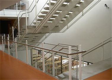Stainless Steel Balustrade Cable Mesh Strong Toughness Environmental Protection