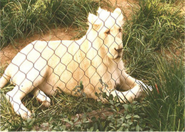 316 / 316L Stainless Steel Zoo Mesh , Protective Animal Enclosure Fencing