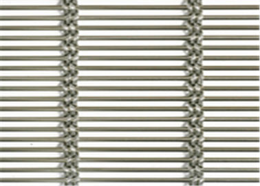 10mm Rod Pitch Stainless Steel Architectural Mesh , Architectural Mesh Cladding