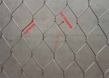 Smooth Surface Stainless Steel Wire Rope Mesh Net High Safety For Bird Aviary