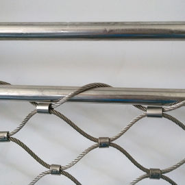Stainless Steel 304 / 316 Balustrade Mesh , Baby Proof Stair Railing Safety Mesh