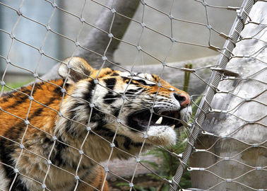 Stainless Steel 316 / 316L  Zoo Mesh , Protective Tiger cage Enclosure Fencing
