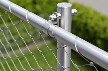 Nonflammable Balustrade Safety Netting Stainless Steel Decorative Effect Vivid