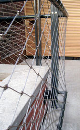 1.2mm Stainless Steel Balustrade Mesh , Stainless Steel Banister Guard Netting