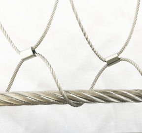 Stainless Steel Wire Rope Mesh For Cable Mesh Zoo Fence / Plant Climbing Forest Net