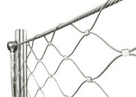 Silvery Stainless Steel Wire Rope Fence Mesh Lightweight For Bridge Protecting