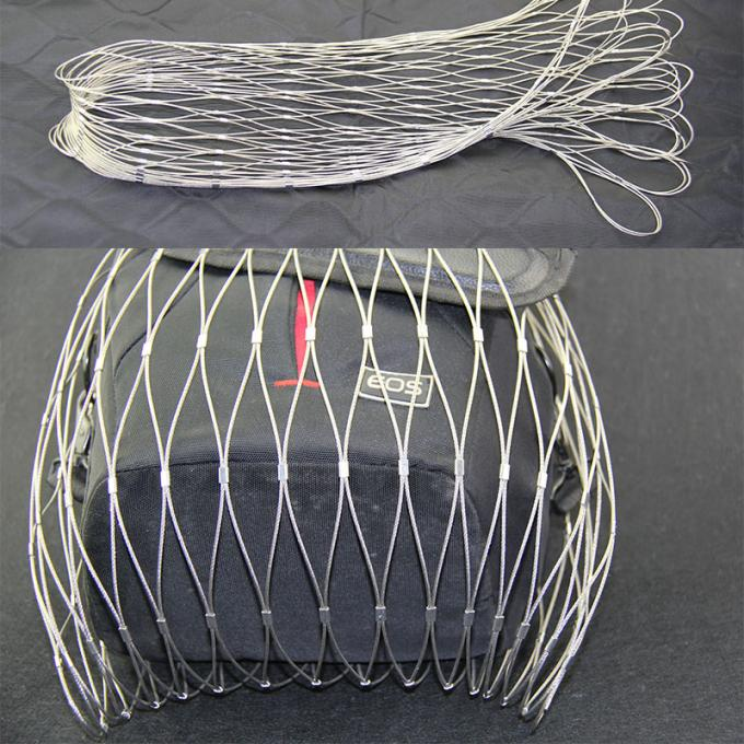 Anti Corrosion Stainless Mesh Bag Hand Woven With SGS / ISO 9001 Certification