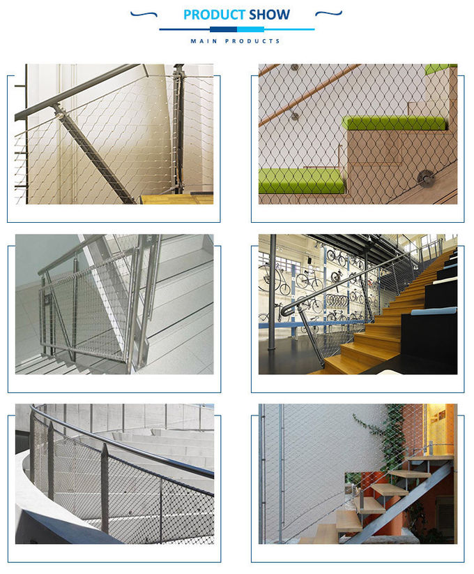Ferrule Mesh Baby Proof Banister Net SS 304 X Tend For Building Structure Protection