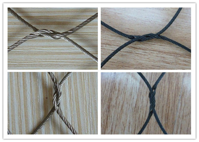 Zoo SS Woven Wire Mesh Rhombus Impact Resistance Excellent Flexible Performance
